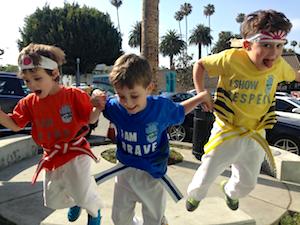 karate kids jump